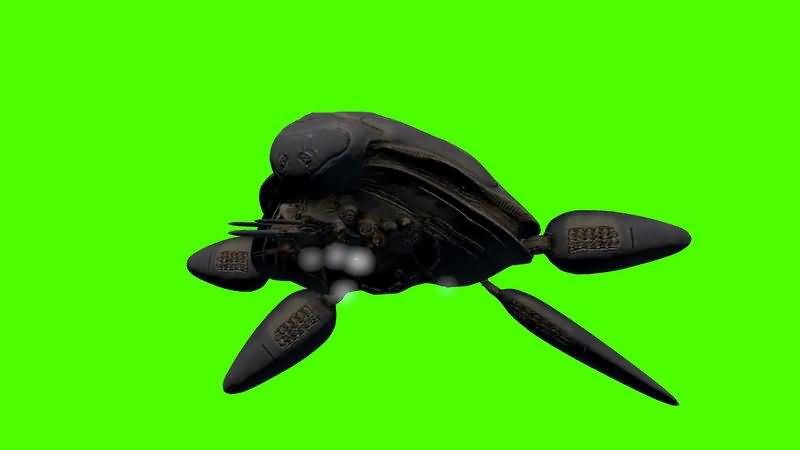 绿幕视频素材氪星飞船