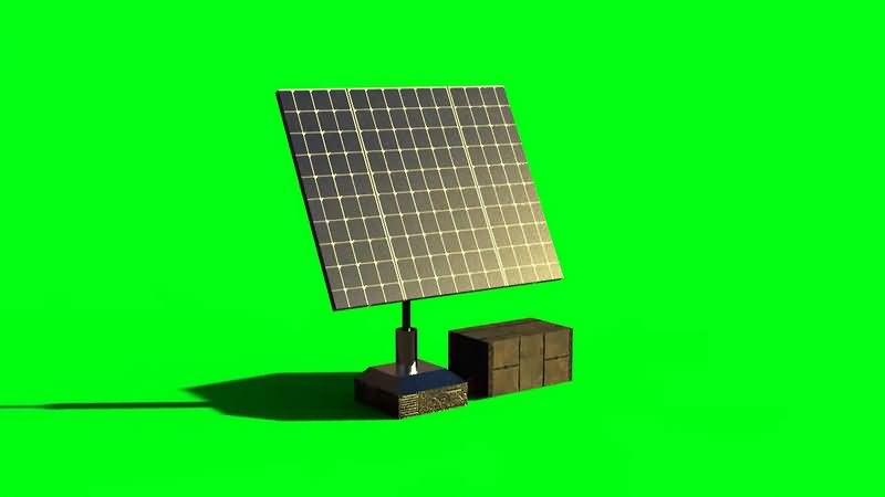 绿幕视频素材太阳能板